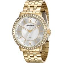 Relógio Mondaine Feminino Dourado Prata 94808LPMVDE4