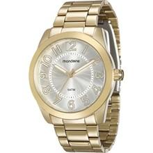 Relógio Mondaine Feminino Dourado Prata 94838LPMVDA1
