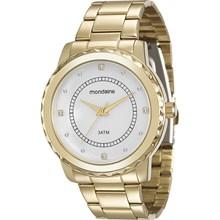 Relógio Mondaine Feminino Dourado Prata 94842LPMVDE1