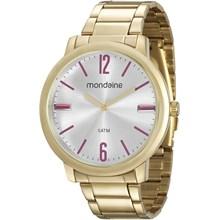 Relógio Mondaine Feminino Dourado Prata Vermelho 53535LPMVDE2