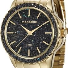 Relógio Mondaine Feminino Dourado Preto 76535LPMVDE2