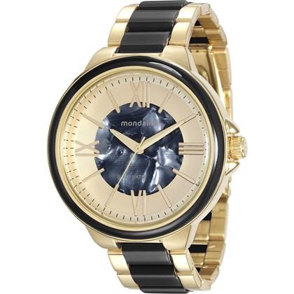 Relógio Mondaine Feminino Dourado Preto 76564LPMVDE5