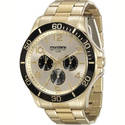 10f72fd8845 Relógio Mondaine Feminino Dourado Preto 78658LPMVKA3 - My Time