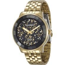 Relógio Mondaine Feminino Dourado Preto 94713LPMVDE2