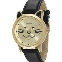 Relógio Mondaine Feminino Dourado Preto 94726LPMVDH2