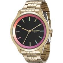 Relógio Mondaine Feminino Dourado Preto 94868LPMVDE5