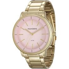 Relógio Mondaine Feminino Dourado Rosa 53536LPMVDE1