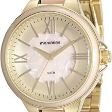 Relógio Mondaine Feminino Dourado Rosa 76564LPMVDE4