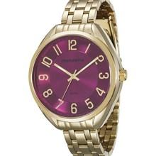 Relógio Mondaine Feminino Dourado Rosa 76573LPMVDE1