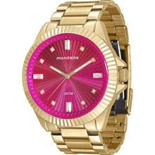 Relógio Mondaine Feminino Dourado Rosa 76613LPMVDE1