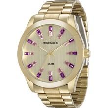 Relógio Mondaine Feminino Dourado Rosa 78663LPMVDA2