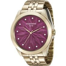 Relógio Mondaine Feminino Dourado Rosa 78727LPMVDA2