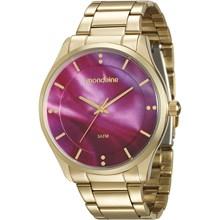 Relógio Mondaine Feminino Dourado Rosa 99089LPMVDE1