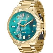 Relógio Mondaine Feminino Dourado Verde 76642LPMVDE3