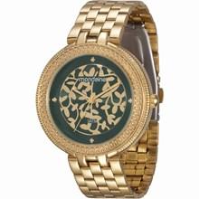 Relógio Mondaine Feminino Dourado Verde 94685LPMVDE1