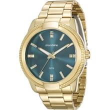 Relógio Mondaine Feminino Dourado Verde 94877LPMVDE1