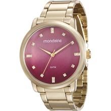 Relógio Mondaine Feminino Dourado Vermelho 53511LPMVDE2