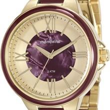 Relógio Mondaine Feminino Dourado Vermelho 76564LPMVDE6