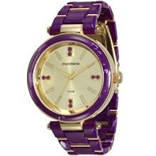 Relógio Mondaine Feminino Lilás Dourado 76637LPMVDZ2