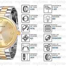 Relógio Mondaine Feminino Misto 76574LPMVBE2