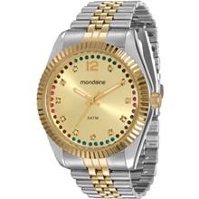 Relógio Mondaine Feminino Misto Dourado 94789LPMVBS3