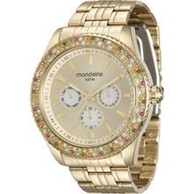 Relógio Mondaine Feminino Multifunção Dourado 78731LPMVDA1