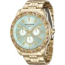 Relógio Mondaine Feminino Multifunção Dourado 78731LPMVDA2