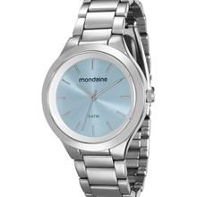 Relógio Mondaine Feminino Prata Azul 76562L0MGNE1