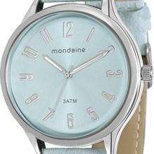 Relógio Mondaine Feminino Prata Azul 76575L0MGNH1
