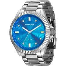 Relógio Mondaine Feminino Prata Azul 76613L0MVNE4