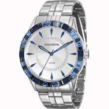 Relógio Mondaine Feminino Prata Azul 78730L0MVNA2