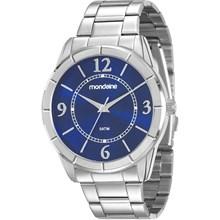 Relógio Mondaine Feminino Prata Azul 83334L0MVNE1
