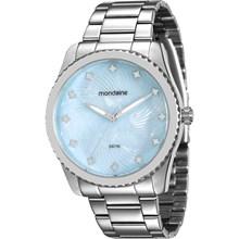 Relógio Mondaine Feminino Prata Azul 94988L0MVNE2