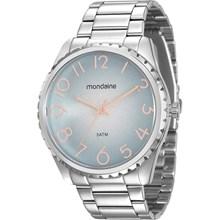 Relógio Mondaine Feminino Prata Azul 99008L0MVNE2
