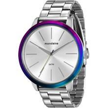 Relógio Mondaine Feminino Prata Colorido 76638L0MVNE2