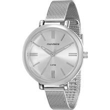 Relógio Mondaine Feminino Prata Esteira 76616L0MVNE1