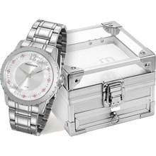 Relógio Mondaine Feminino Prata Porta Joia 99146L0MVNE3K1