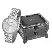Relógio Mondaine Feminino Prata Porta Jóias 99065L0MKNE1K1