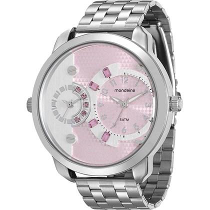 Relógio Mondaine Feminino Prata Rosa 76544L0MVNE8