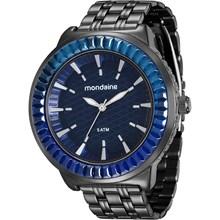 Relógio Mondaine Feminino Preto Azul 76624LPMVPE1