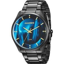 Relógio Mondaine Feminino Preto Azul 99089LPMVPE3