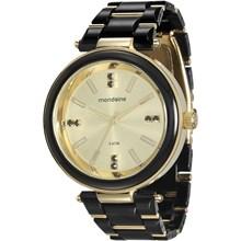 Relógio Mondaine Feminino Preto Dourado 76637LPMVDZ1