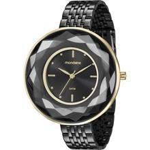 Relógio Mondaine Feminino Preto Dourado 99054LPMVHE2
