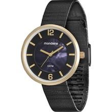Relógio Mondaine Feminino Preto Esteira 94876LPMVHE3