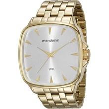 Relógio Mondaine Feminino Quadrado Dourado 76626LPMVDE2