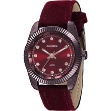 Relógio Mondaine Feminino Vermelho Camurça 99062LPMVYH4