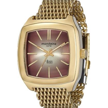 c67525709bb Relógio Mondaine Ivete Sangalo Feminino Quadrado Dourado 76360LPMVDE1