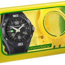 Relógio Mondaine Kit Brasil Masculino Preto Amarelo 69212G0MVNV1