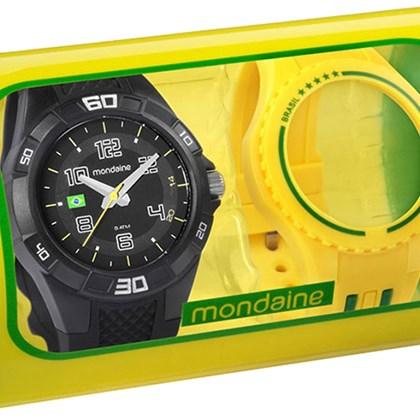f399ed7e22d Relógio Mondaine Kit Brasil Masculino Preto Amarelo 69212G0MVNV1 ...