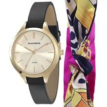 Relógio Mondaine Kit Feminino Dourado Preto 76495LPMVDH2